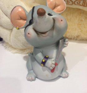 Копилка мышка пират