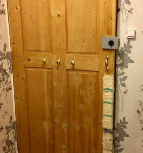 Дверь деревянная с коробкой 98х206