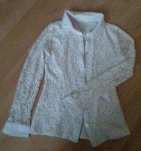 Блузка школьная. для девочки 10-12 лет