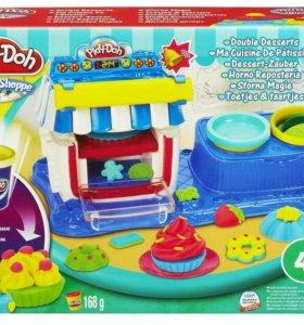 """Play-D Набор пластилина """"двойные десерты"""""""