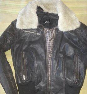 Куртка кожаная, натуральная.