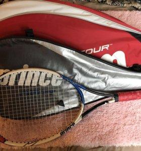 Теннисную ракетку и спортивную сумку