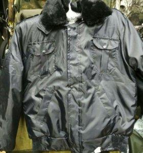 "Куртка черная Охрана"""