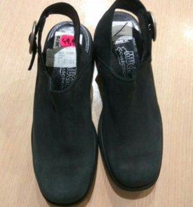Нат. кожа. Сабо, 33 р., туфли для девочки, новые.