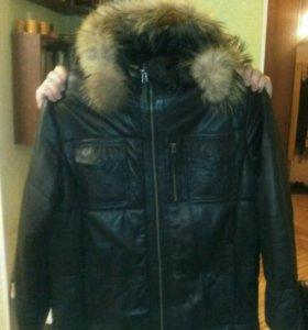 Куртка зимняя кожаная 54 раз.