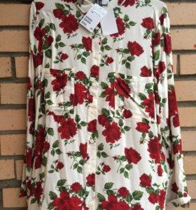 Блуза новая H&M с цветочным принтом