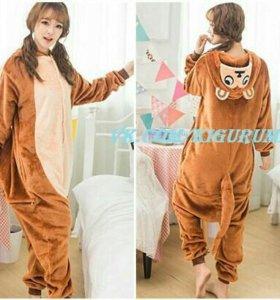 Костюм, пижама кигуруми обезьяна