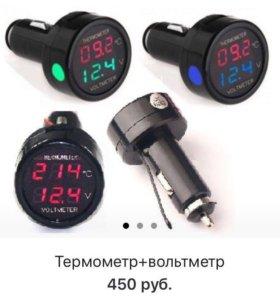 Вольтметр с термометром в авто