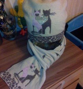 Комплект шапка и шарф р 56