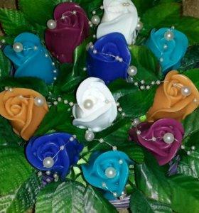 Корзина роз (мыло ручной работы)