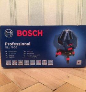 Лазерный уровень Bosch gll 5-50 Новый со штативом
