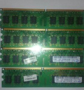 Оперативная память Samsung DDR2 800 DIMM 1Gb