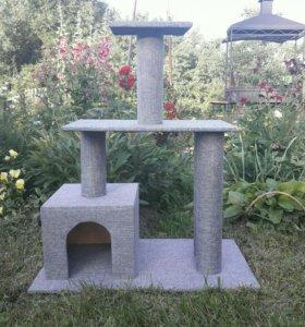 Домик для котов и кошек с когтеточками.
