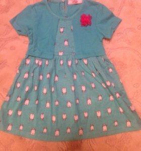 Детское платье от98 до 122рост