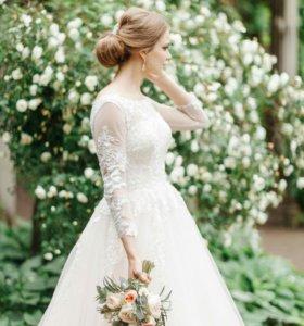 Продам свадебное платье (возможно с фатой)