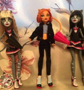 Куклы Monster High Пурсефона и Мяулоди