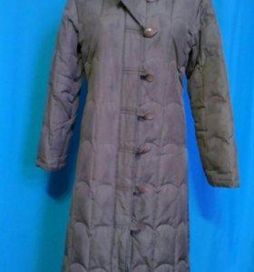 Длинное пальто-пуховик