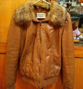 Кожаная куртка (утепленная)