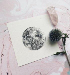 """Открытка """"Луна"""""""