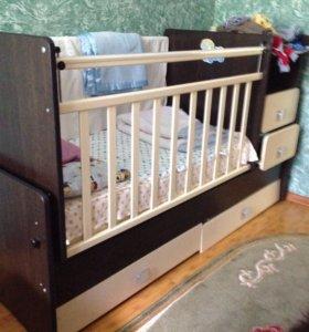 Детская кроватка, манежка