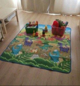 Детский игровой коврик новый 180x150 см