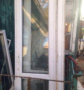 Пластиковая дверь на 60 см