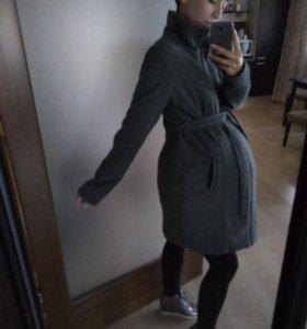 Пальто для беременных теплое