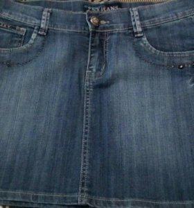 Джинсовая юбка, р-р 46-48