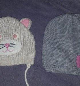 Продам шапочки на девочку димесезонные