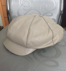 Кожаная кепка 52-54
