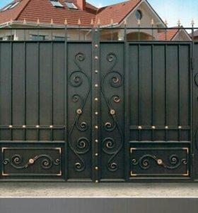 Ворота со встроенной калиткой # 23