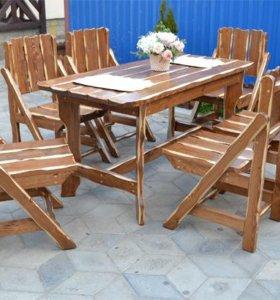 Садовая мебель из массива сосны