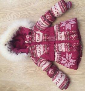 Детская зимняя куртка для девочек 86 см в отл/сост