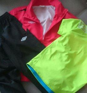 Новые спорт.костюм Umbro+футболка Adidas (146рост)