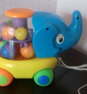 Слоник каталка