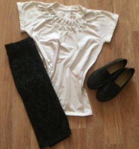 Одежда (футболка, юбка, лоферы)