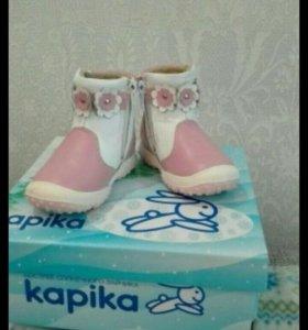 Новые весенние ботиночки для девочки р-р 21