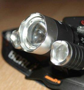 Налобный фонарь Boruit с зумом