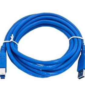 новый кабель USB 3.0 am-bm 1.8m