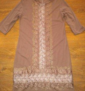 Новое платье ручной работы р.52-54