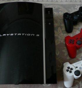 PS3 + 3 Геймпада +10 игр