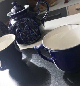Чайник +2 чашки