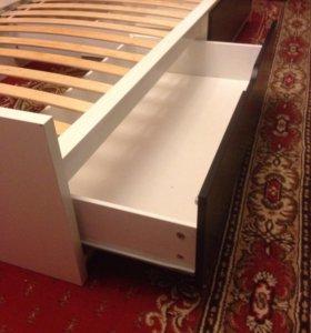Детская кровать с выдвижными ящиками IKEA