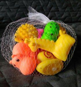 Новый набор резиновых игрушек для ванной🦀🐟🐊🐧🐸