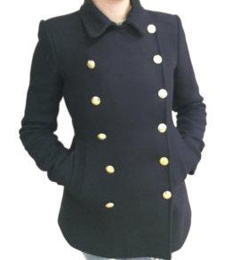 Стильное двубортное пальто Zara