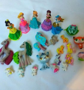 Куклы принцессы и животные, пони