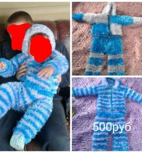Вязанные тёплые костюмы