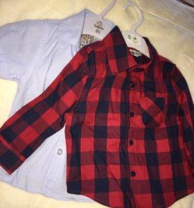 Рубашки для мальчика 74 и 80 р-ры