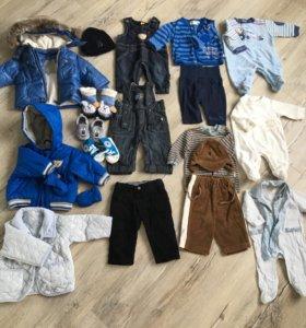 Пакет брендовой одежды на модника от 0 до 3
