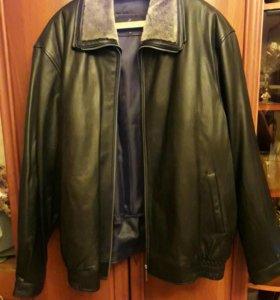 Кожаная зимняя мужская куртка. Кожа натуральная.